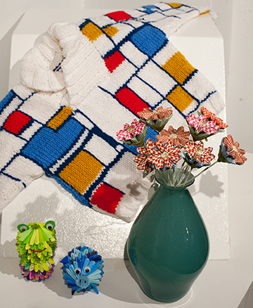 mondrian sweater and origami_salon_handmade holidays_GCCA_low res