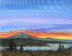 North South Lake at Sunset